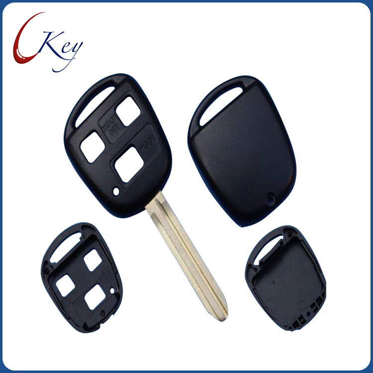 3 Buttons Replacement Remote Car Key Shell Fob Case For Toyota No Logo