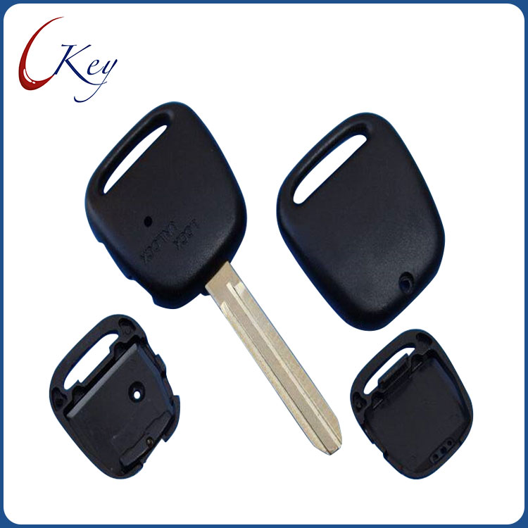 1 Side Button Replacement Remote Car Key Shell Fob Case For Toyota Carina Estima Harrier Previa Corolla Celica Key No Logo