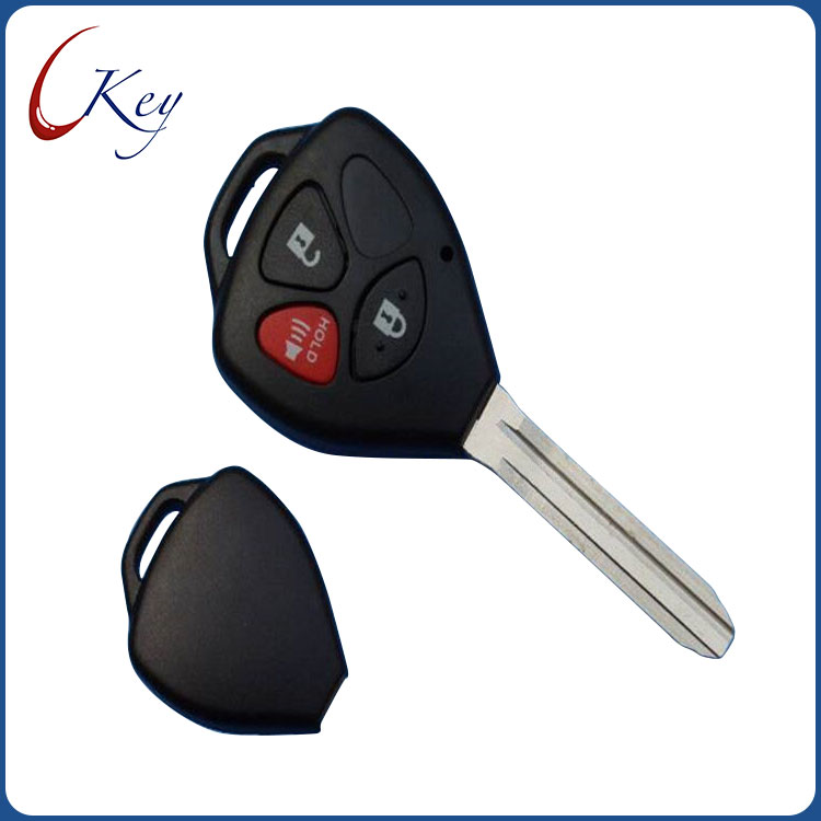 3 Buttons Replacement Remote Car Key Shell Fob Case For Toyota Corolla RAV4 No Logo