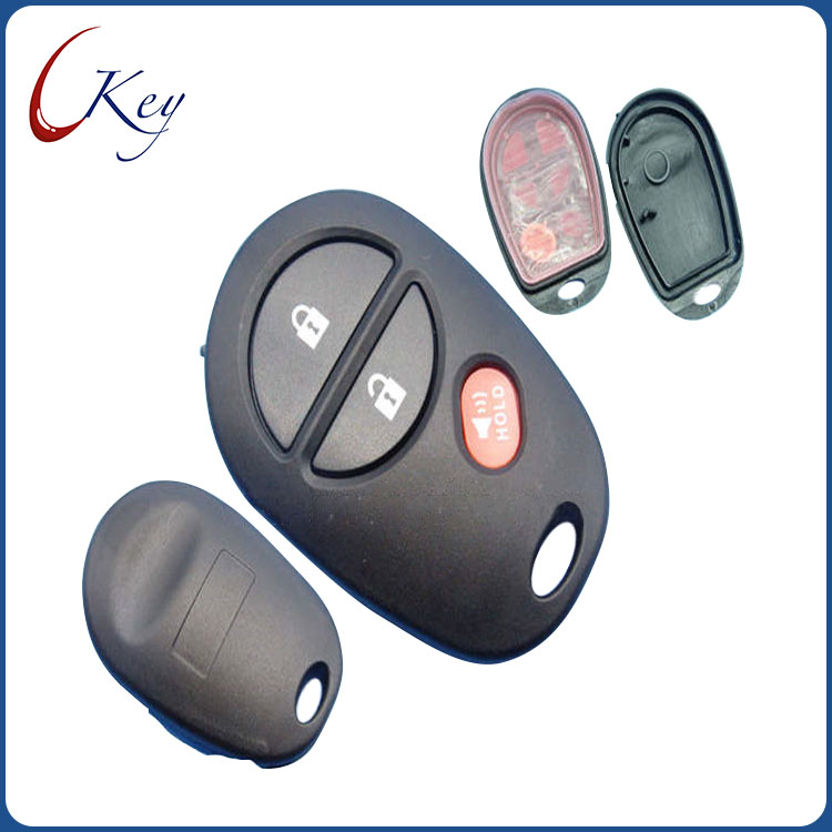 3 Buttons Replacement Remote Car Key Shell Fob Case For Toyota Tacoma HIGHLANDER SEQUOIA Sienna Tundra No Logo