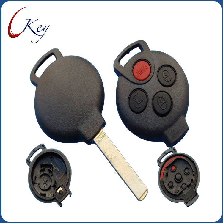 Benz Smart 3+1 Buttons Remote Key Blank No Logo
