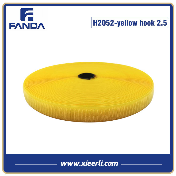 Hook and Loop Tape Nylon Yellow hook 25mm