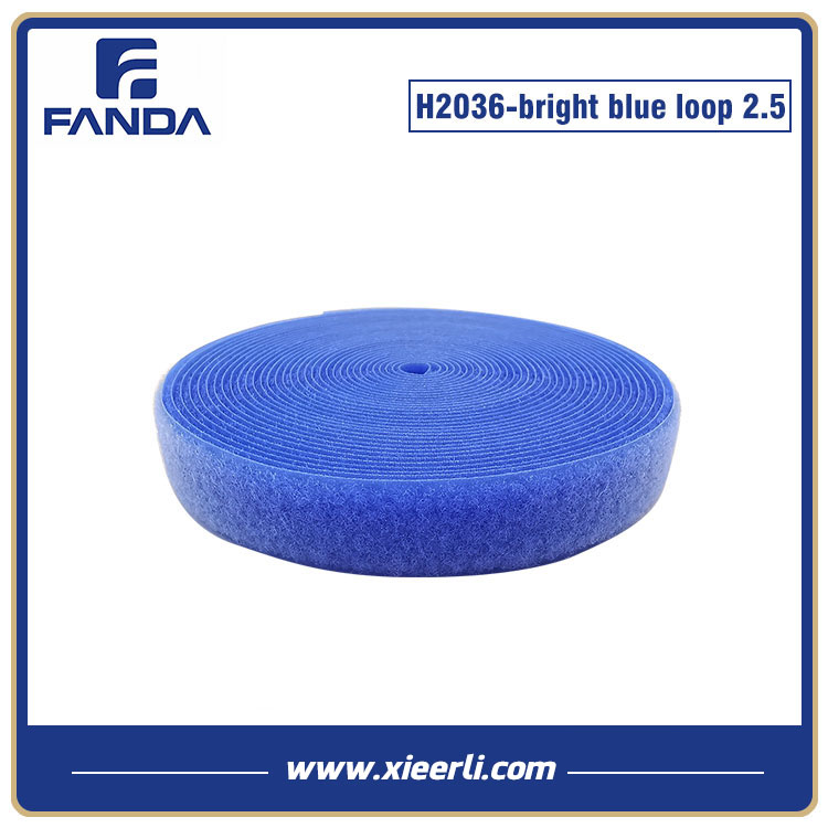 25mm bright blue Nylon Polyester Loop