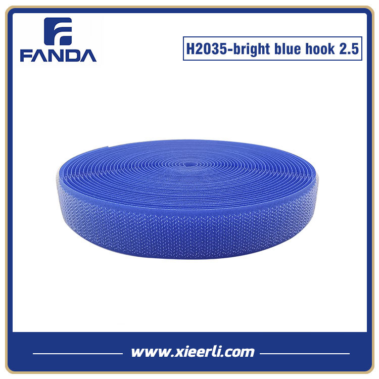 25mm bright blue Nylon Polyester Hook