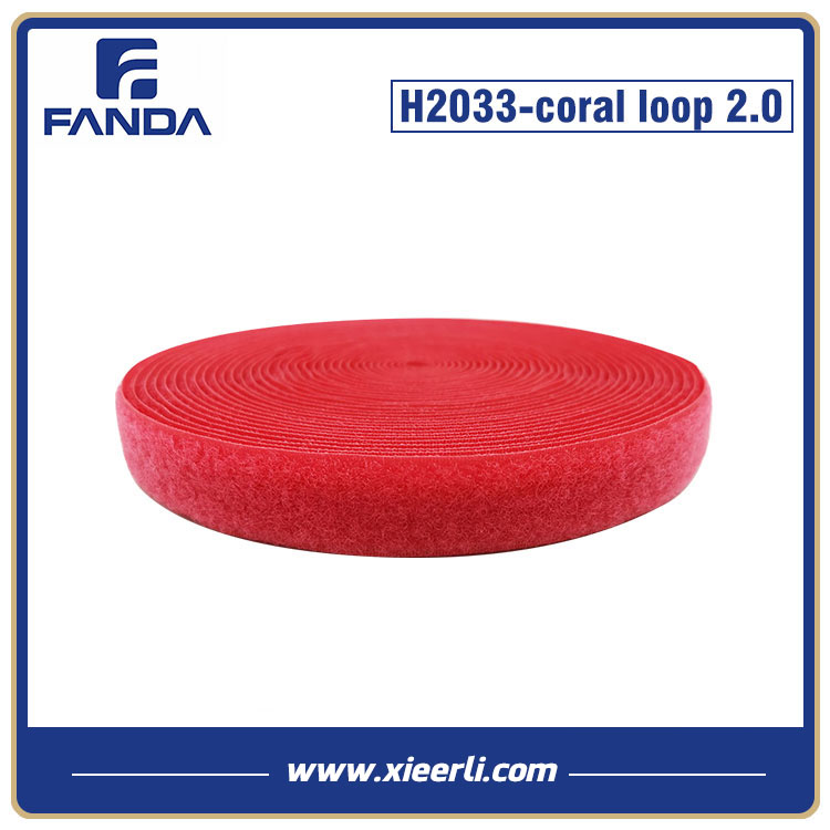 20mm Coral Color Nylon Loop Fastener Tape