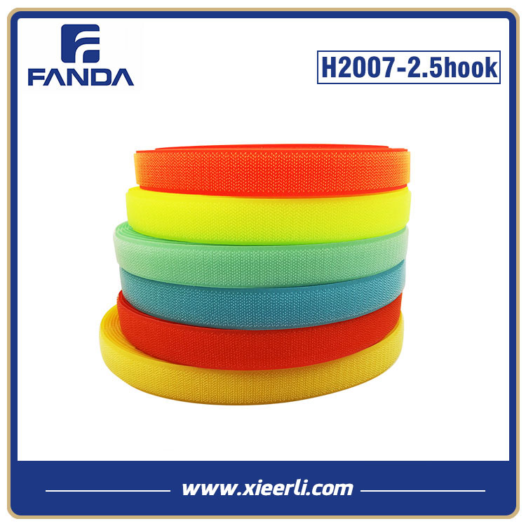 Colorful Polyester Nylon Hook and Loop 25mm Hook