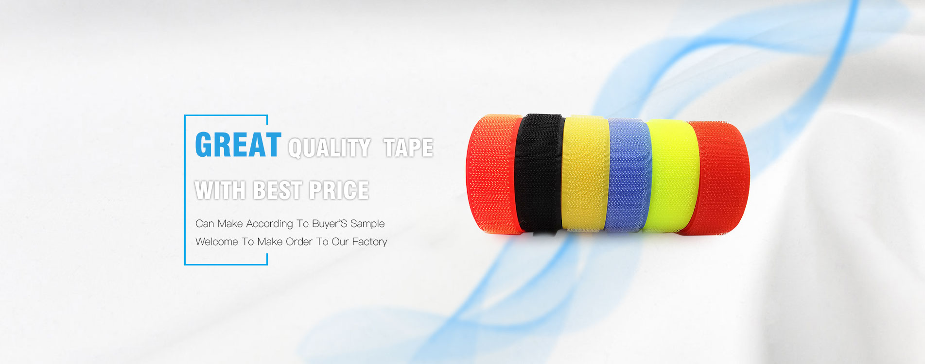 Multicolor Hook and Loop Tape Nylon Polyester