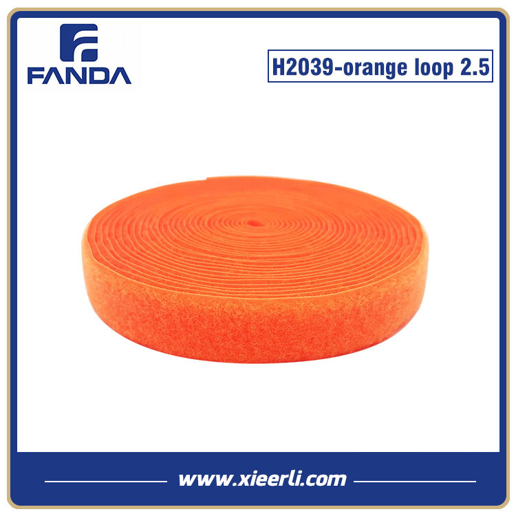 Magic Tape Nylon Fluorescent Orange 25mm loop