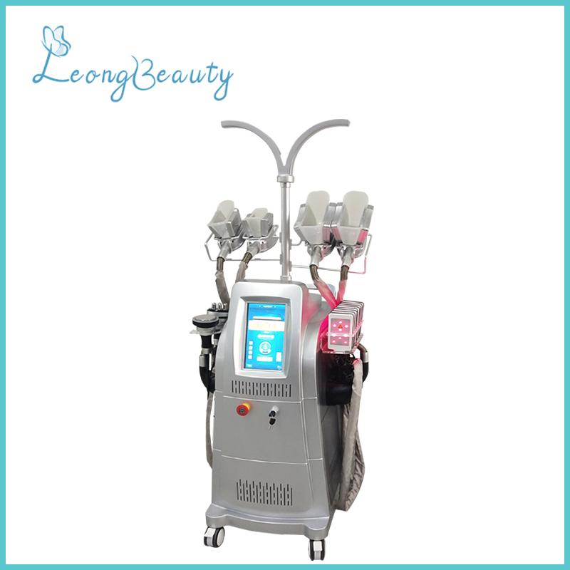 Máquina cinzenta vertical da perda de peso da cavitação de Cryolipolysis Rf do silicone da cor