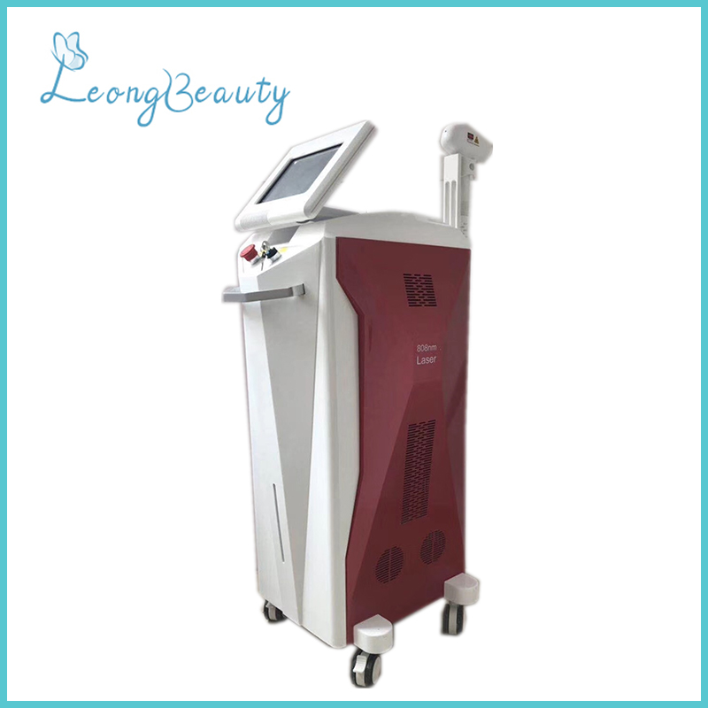 Vertical Red 3 Wavelength Diode Laser Machine For Hair Removal 1200W