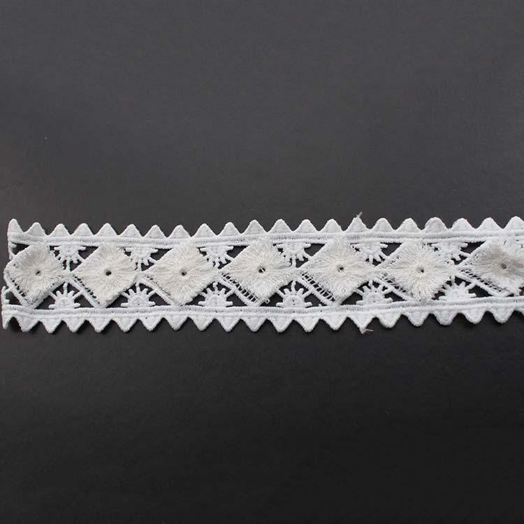 Вез од ткаенина со ткаенини со чипка во форма на растворливо во вода, 3Д, 100%