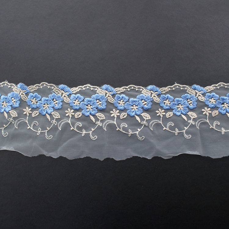 3D Flower embroidery Mesh Lace