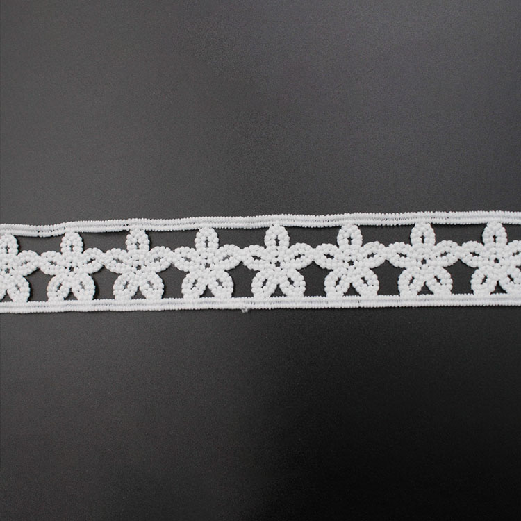3D Flower Lace Embroidered Trim