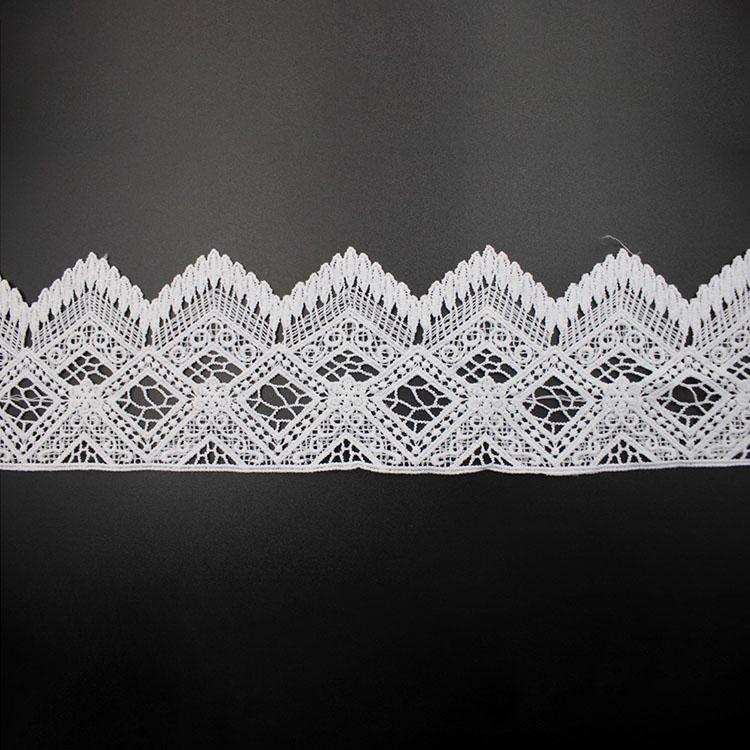 3D White Guipure Lace