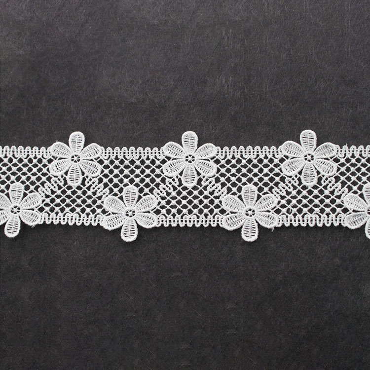 4.5cm Width PolyesterWaterSoluble EmbroideryLace