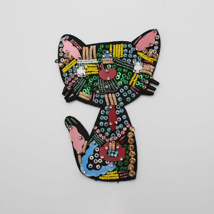 Beaded Kitty Cat Patches