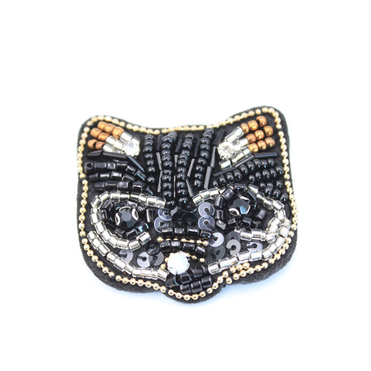 Black Beaded Cat Patches