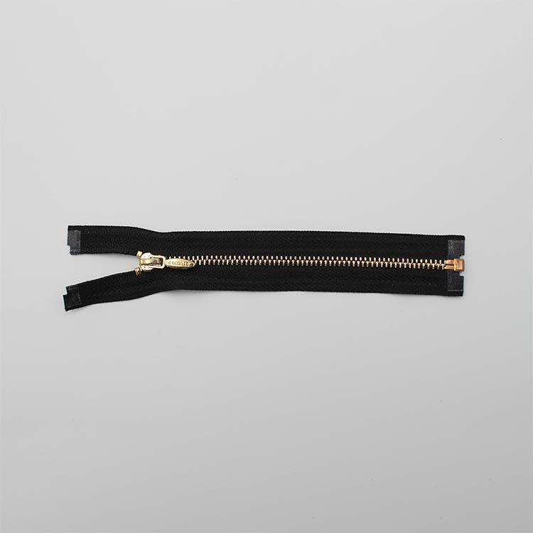 Black Zipper With Gold Teeth