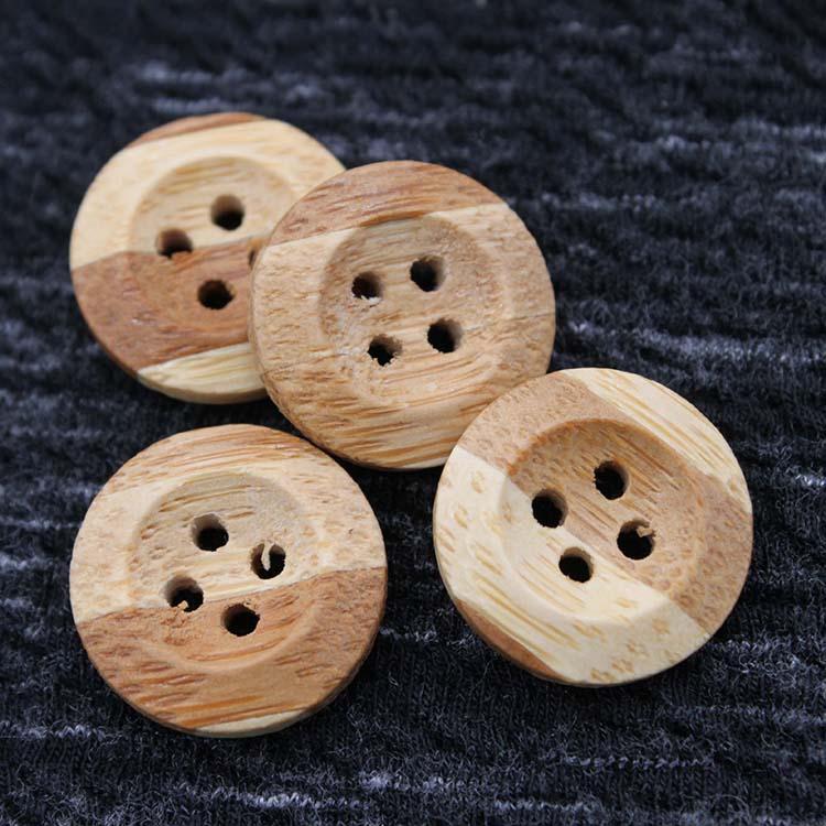 Brown Bamboo Button