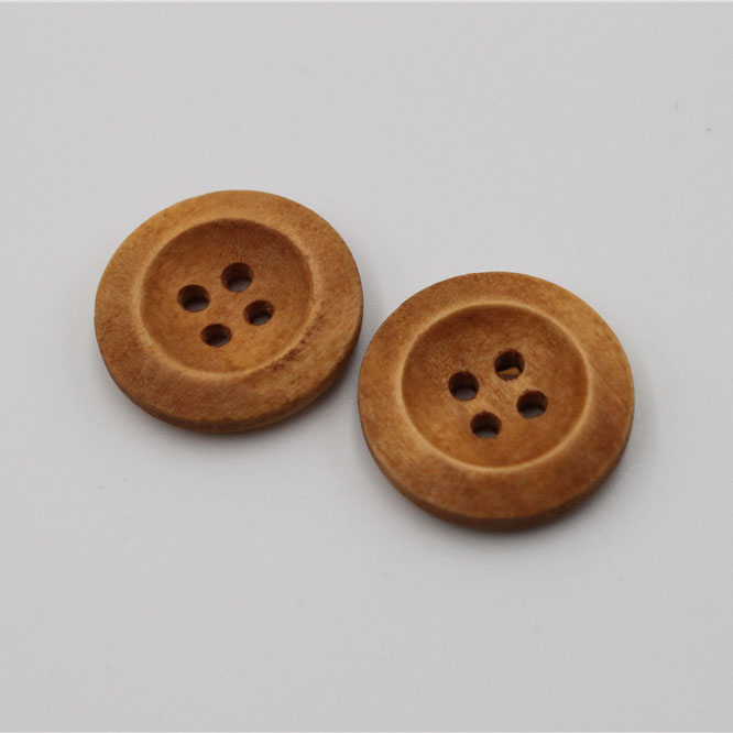 Brown Wood Button 20mm