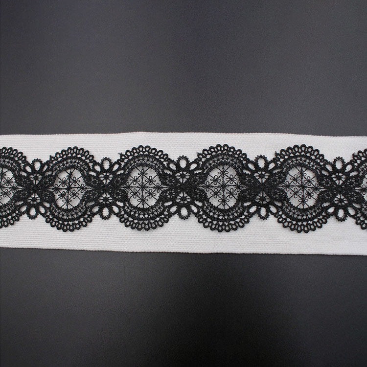 Chemical Guipure Embroidery Border Lace