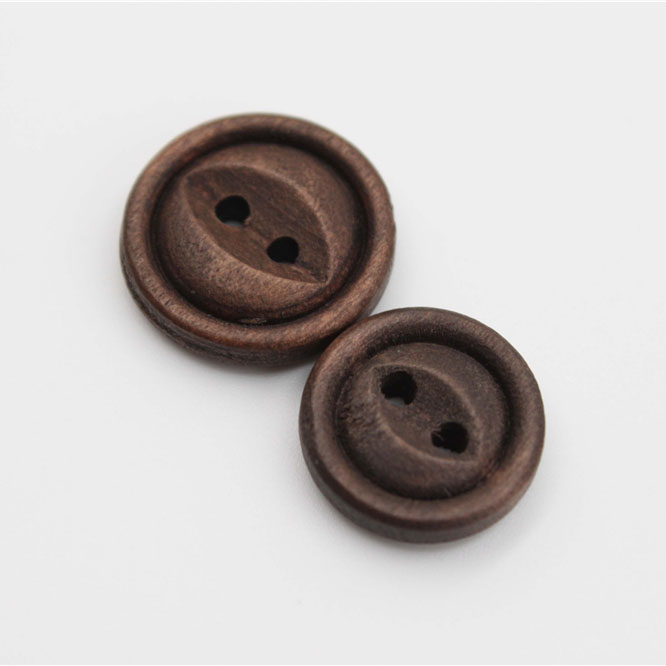 Coffee Wood Button