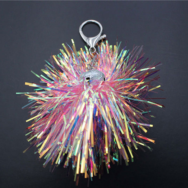 Cool Pink Laser Spark Ball Key Chain