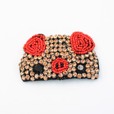 Cute Beaded Pig Patches