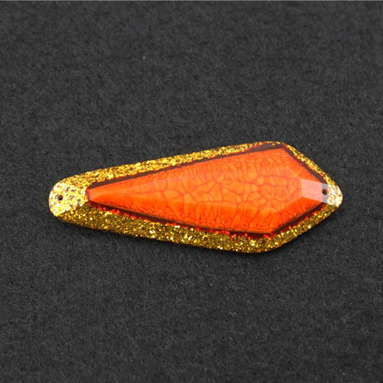 Ethnic Rhinestone Orange Trimming