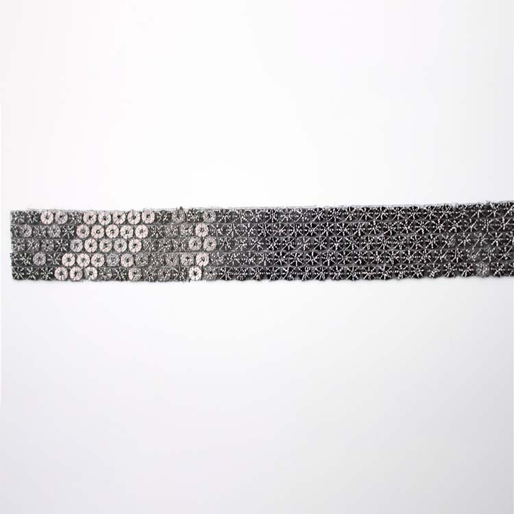 Factory Direct Sell Cheap Price Ribbon Sequins Trim Mesh Lace Trim