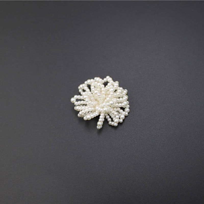 Fashion Beaded Pearl Flower Shape Patches Customized Appliques
