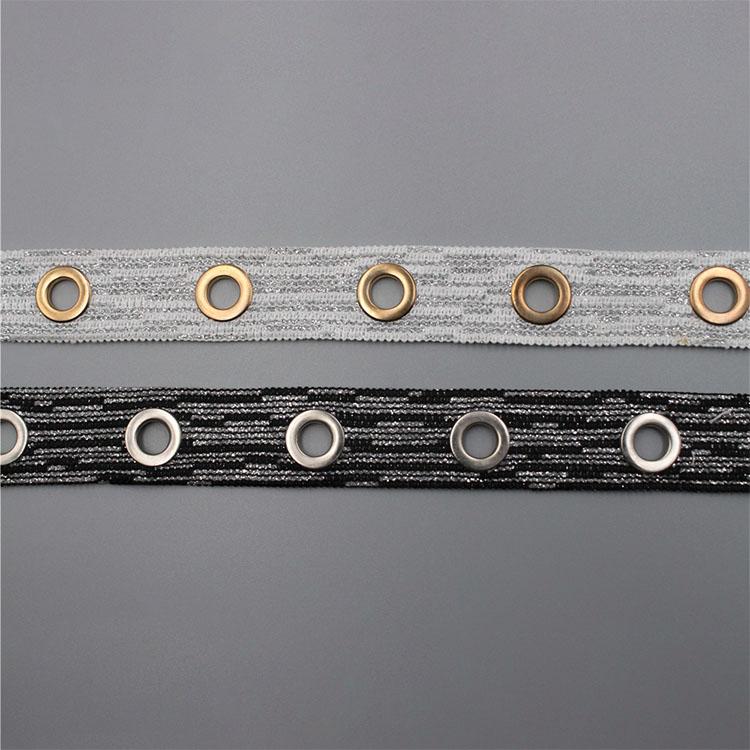 Модна хемиска сјајна метална нишка Облека за чипка за облека
