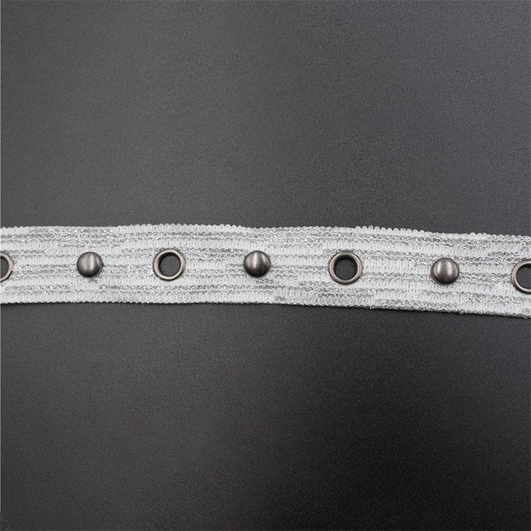Fashion MetalEyeletRibbonTrimTape Clothes Accessories