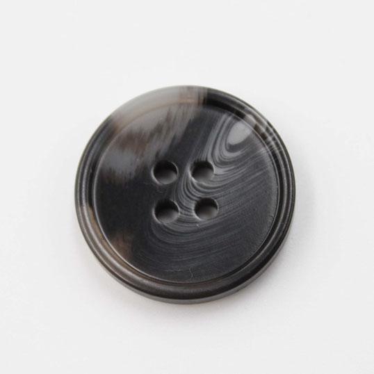Flat Balck Palstic Button