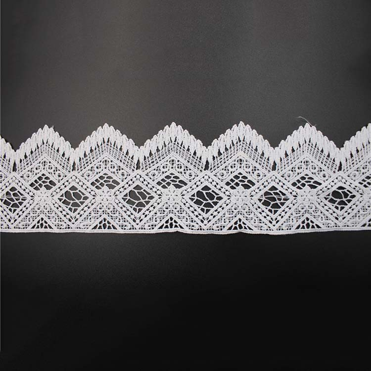 Floral Water Soluble Lace Cotton Guipure Lace For Wedding Dress