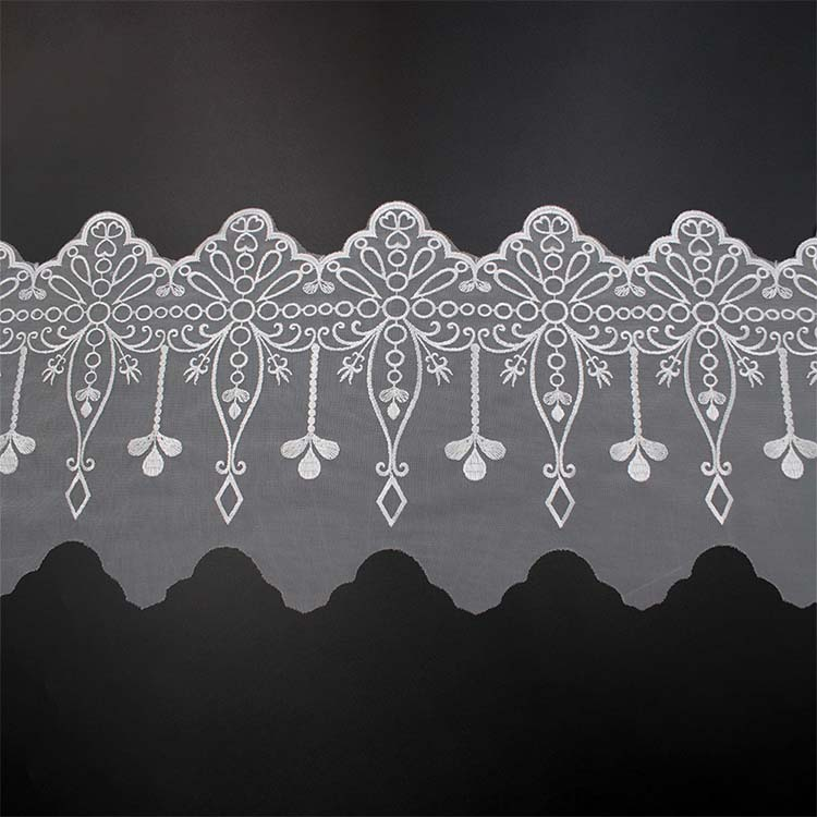 Formal White 3D Flower Lace 2020
