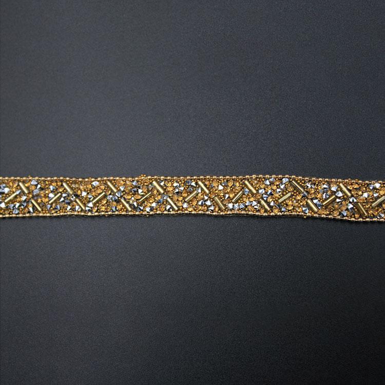 Gold Beads Webbing