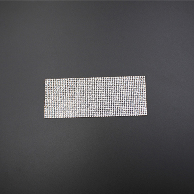 Hot Sale Rectangle Silver Rhinestone Iron-on Patches
