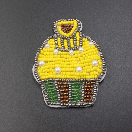 Ice Cream Beaded Sewing On Patches