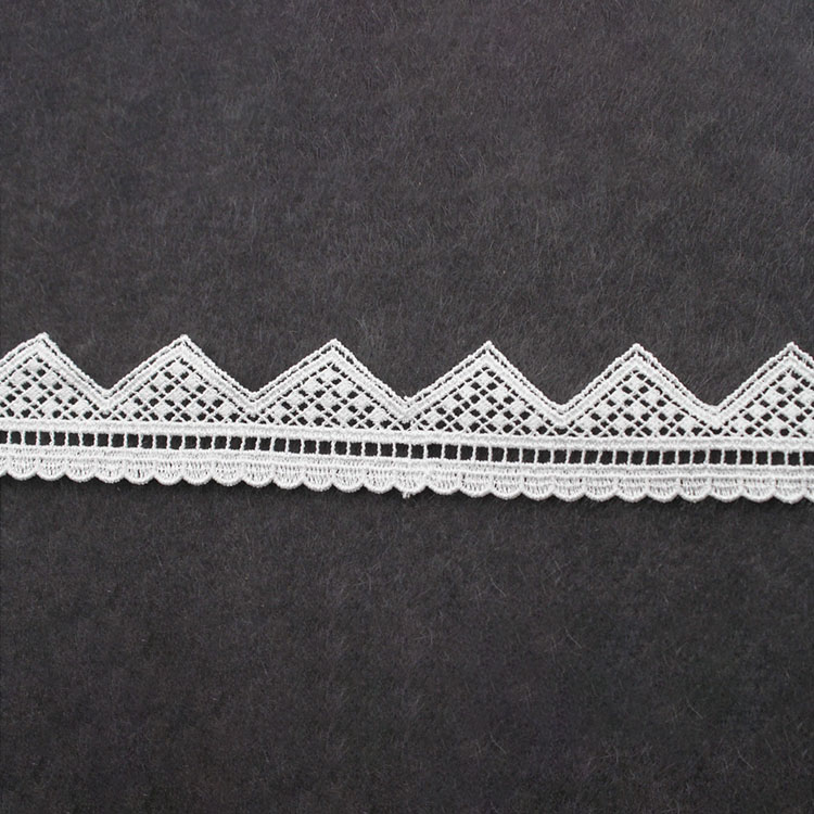 Latest Off White Color African Fashion Fabric Water Soluble Lace Fabric For Wedding
