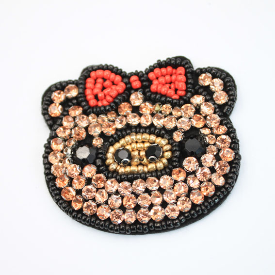 Lovely Beaded Pig Patches