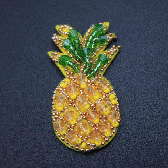 Mini Sew On Pineapple Beaded Patches