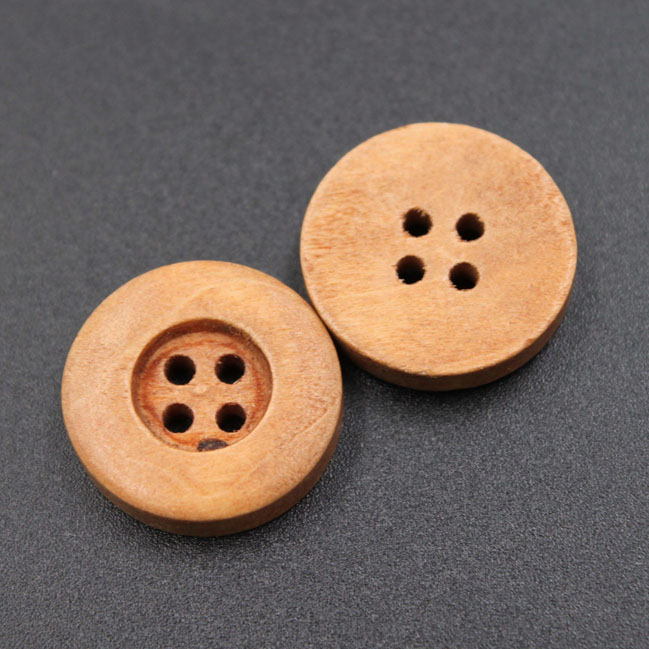 New Coming Round Wood Button