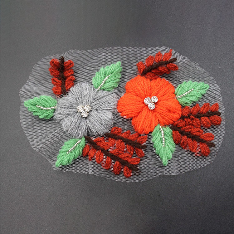 New Embroidery Flower Applique Design