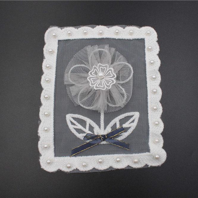 Offwhite Lace Patch Applique Design