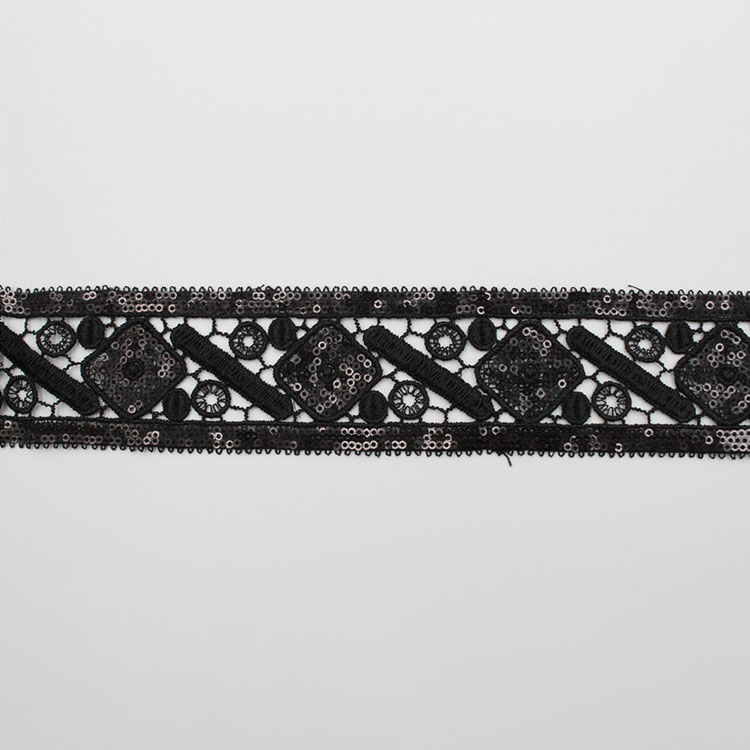 Sequin Embroidery Border Lace