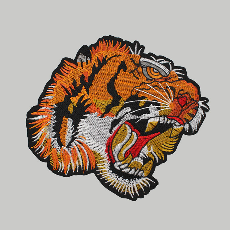 Tiger Applique Patch Design