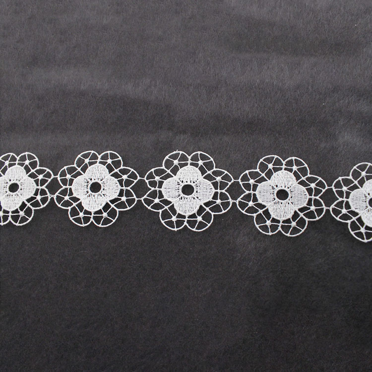 White Cord 3D Flower Lace