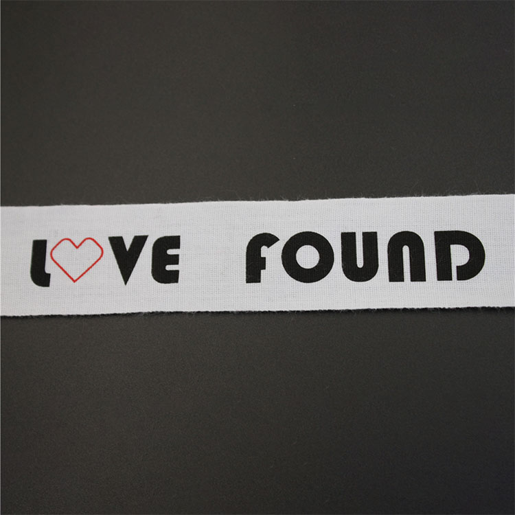 White Cotton Tape With Heart