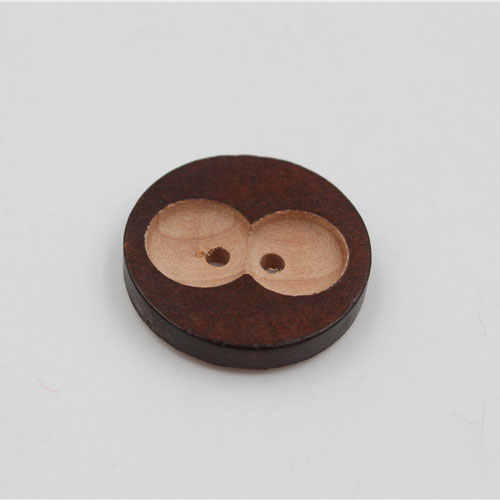 Wood Button 25mm